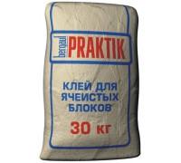 Клей для ячеистых блоков Bergauf Praktik 30кг (1пал/48шт)