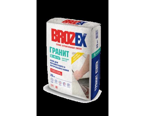 Клей Брозекс (Brozex) ГРАНИТ КS-112  для керамической плитки и натурального камня, 25 кг (1 пал/48 шт)