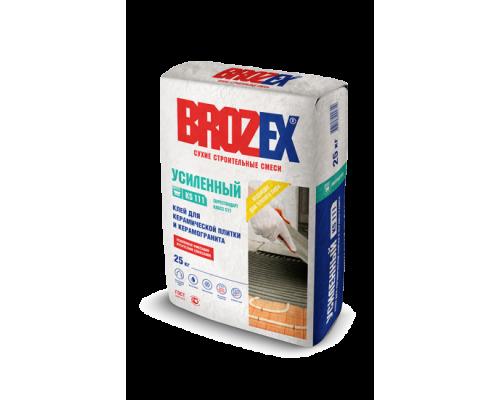 Клей Брозекс (Brozex) УСИЛЕННЫЙ КS-111 для керамической плитки и керамогранита, 25 кг (1 пал/48 шт)