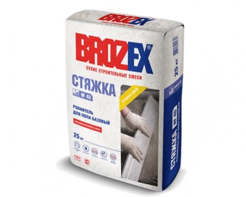 Ровнитель для пола Брозекс (Brozex) СТЯЖКА NF-40 базовый, 10-80мм, 25 кг, (1 пал/48 шт)