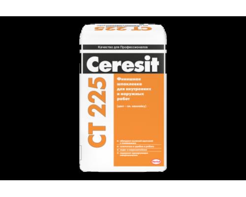 Шпатлёвка Церезит (Ceresit) СТ 225 финишная цементная фасадная  белая, 25кг