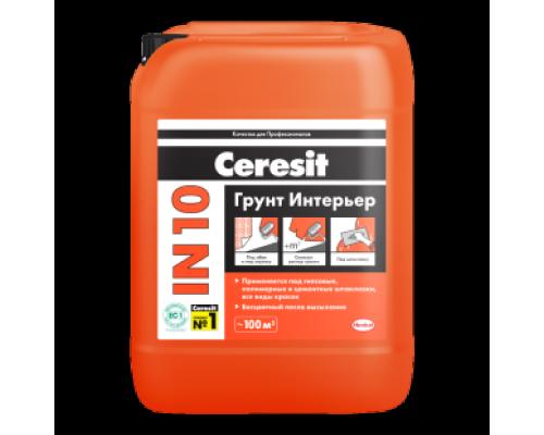 Грунтовка Церезит (Ceresit) IN 10/5л (1 пал/120 шт)