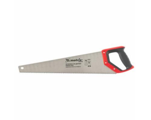 23560 Ножовка по дереву 500 мм,волновая вырубка,зуб 2D, каленый зуб., 2-хкомп.рукоятка/MATRIX