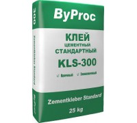 Клей БиПрок (ByProc) KLS-300 для плитки стандартный, 5 кг