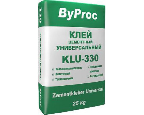 Клей БиПрок (ByProc) KLU-330 для плитки  универсальный, 5 кг