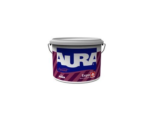 Краска для фасадов Аура Фасад Форт акриловая матовая износостойкая основа TR (2,7 л)