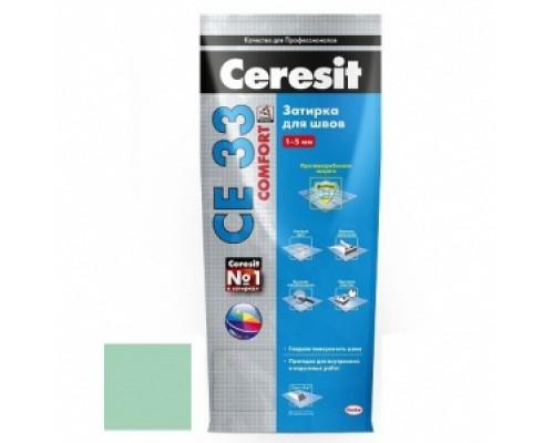 Затирка Церезит (Ceresit) СЕ33 (киви №67) 2-5 мм, 2 кг (1 кор=9 шт)