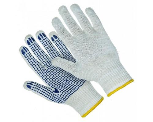 Перчатки  7-ми ниточные с ПВХ