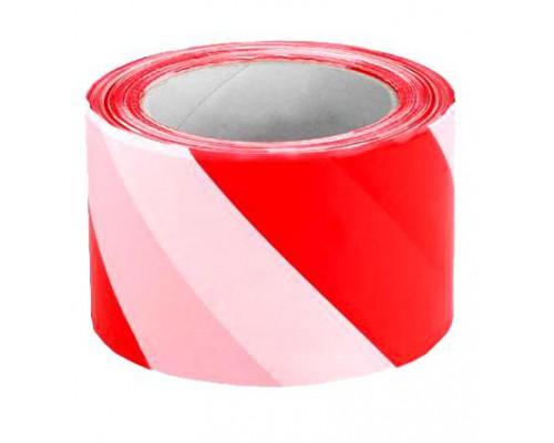 Лента сигнальная 50*200м красно-белая