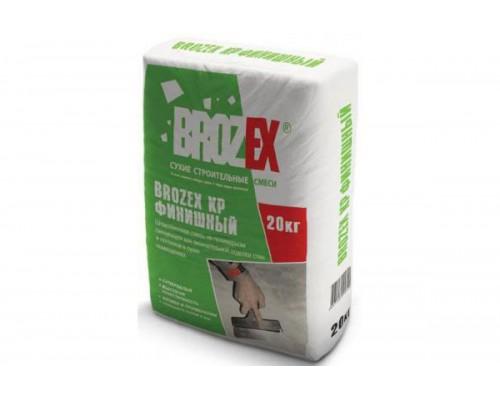 Шпатлёвка Брозекс КР (BROZEX KР) финишная полимерная супербелая, 20 кг (до 2-х мм) (1 пал/56шт)