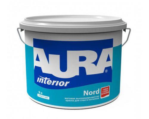 Краска в/д для стен и потолков Аура NORD матовая высокоукрывистая (9л)