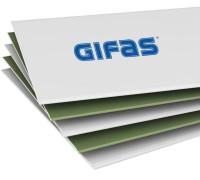 ГИФАС Гипсокартон влагостойкий (ГКЛВ)1200*2500*12,5мм (1 пал/50 шт)