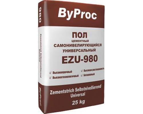 БиПрок (ByProc) EZU- 980 Самонивелирующийся пол универсальный, 3-8 мм (25 кг) (1 пал/48 шт)