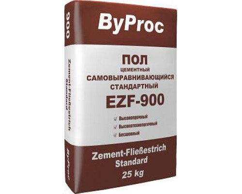 БиПрок (ByProc) EZF-900 Самовыравнивающийся пол стандартный, 6-50 мм, 25 кг (1 пал/48 шт)