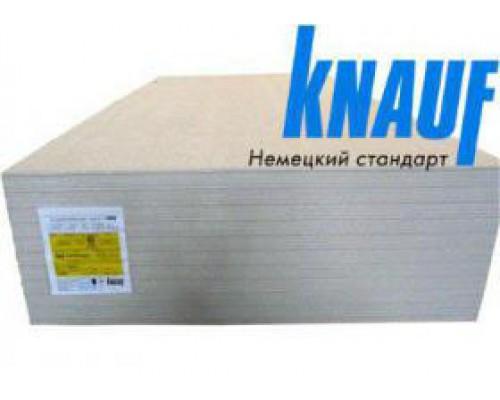 Гипсоволокнистый лист влагостойкий (ГВЛВ) КНАУФ 2500х1200х12.5