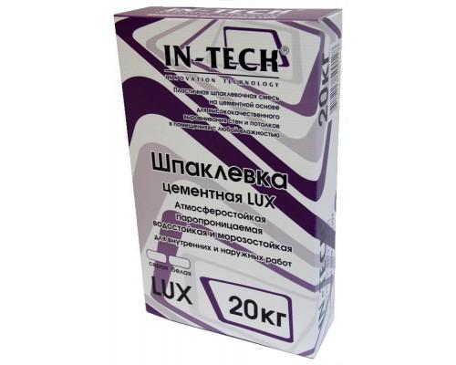 Шпаклевка IN-TECK LUX цементная белая, 20 кг ( 1пал/56шт)
