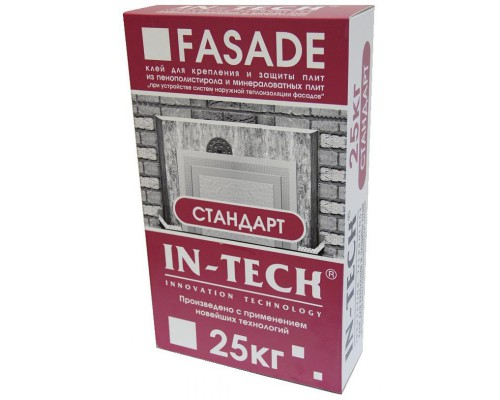 Клей для теплоизоляции  IN-TECK FASADE Стандарт, 25кг (1пал/48шт)