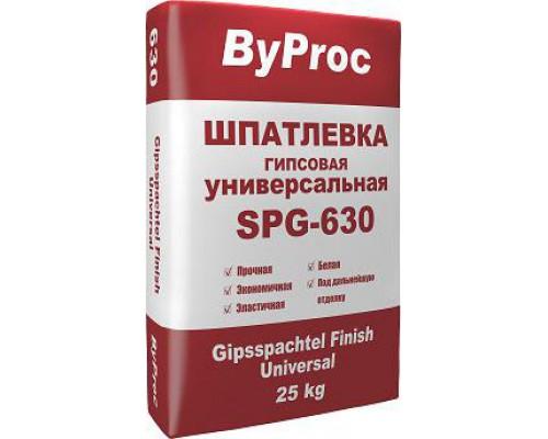 Шпатлёвка БиПрок (ByProc) SPG-630  гипсовая универсальная, 25 кг (1 пал/49 шт)