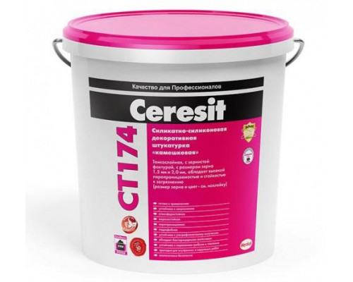 Ceresit СТ174 Штукатурка силикат-силикон база 1,5 P (25 кг)