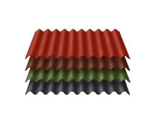 Ондулин (0.95x1,95м) красный