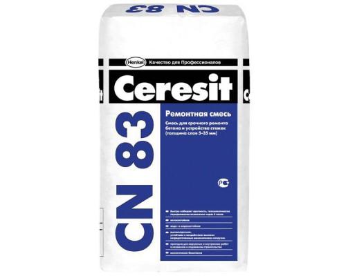 Ремонтная смесь Церезит (Ceresit) СN 83 для бетонных полов и стяжек , 5-35 мм (25кг) (1 пал/48 шт)