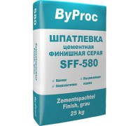 Шпатлёвка БиПрок (ByProc) SFF-580 финишная цементная серая, 25 кг (1 пал/48шт)