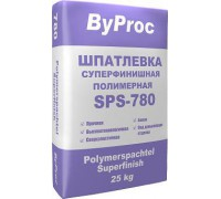 Шпатлёвка БиПрок (ByProc) SPS-780 суперфинишная полимерная, 25 кг (1 пал/49 шт)