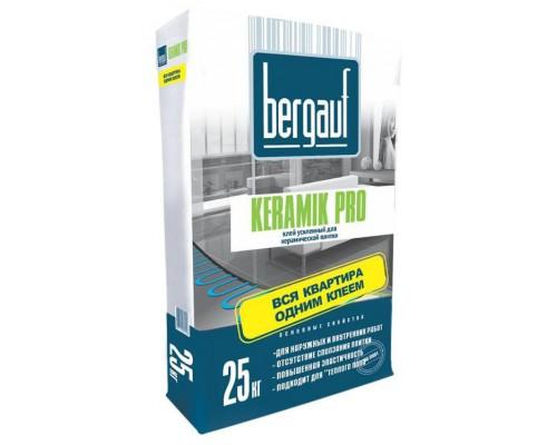 Клей Бергауф Керамик Про для плитки  усиленный, 25 кг (1 пал/56 шт)