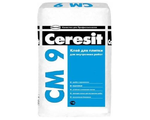 Клей Церезит (Ceresit) СМ 9 для плитки для внутренних работ, 25 кг (1 пал/48 шт)