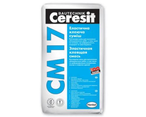 Клей Церезит (Ceresit) СМ17 для плитки эластичный, 25 кг (1 пал/48 шт)