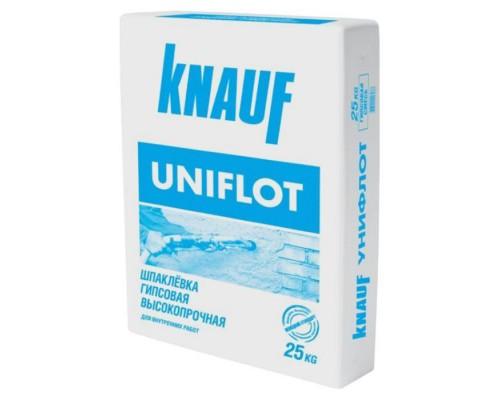 Шпатлёвка КНАУФ Унифлот (Knauf Uniflot) гипсовая  высокопрочная, 25 кг (0,5-2 мм) (1 пал/42 шт)