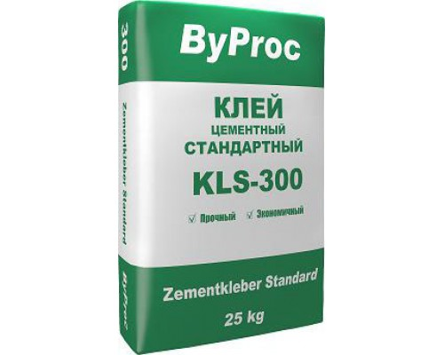Клей БиПрок (ByProc) KLS-300 для плитки стандартный, 25 кг (1 пал/48 шт)