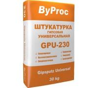 Штукатурка БиПрок (ByProc) GPU - 230 универсальная  гипсовая, 30 кг (1 пал/40 шт)
