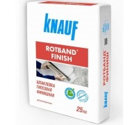 Шпатлёвка КНАУФ Ротбанд-Финиш (Knauf Rotband-Finish) финишная гипсовая, 25 кг (0,2-5 мм) (1/45 шт)