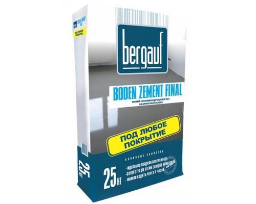 Бергауф Боден Цемент Финал Самовыравнивающийся пол  0,5-10 мм (25 кг) (1 пал/56 шт)