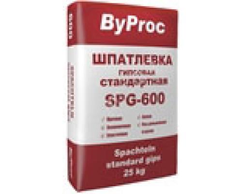 Шпатлёвка БиПрок (ByProc) SPG-600  гипсовая стандартная, 25 кг (1 пал/49 шт)