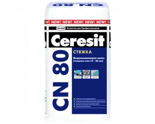 Церезит (Ceresit) СN 80 Стяжка для пола, 10-80 мм (25кг) (1 пал/48 шт)