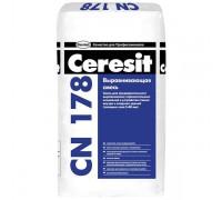 Церезит (Ceresit) СN 178 Стяжка для пола легковыравнивающаяся, 5-80 мм(25кг) (1 пал/48 шт)