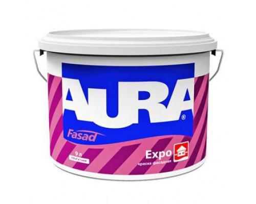 Краска для фасадов Аура Expo акриловая матовая (9 л)