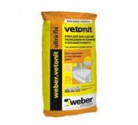 Клей Ветонит Ультра Фикс для плитки зима 25 кг (1 пал/48 шт)