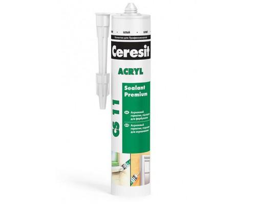 Герметик акриловый белый CS 11 Церезит(Ceresit), 280 мл (1 уп/12 шт)