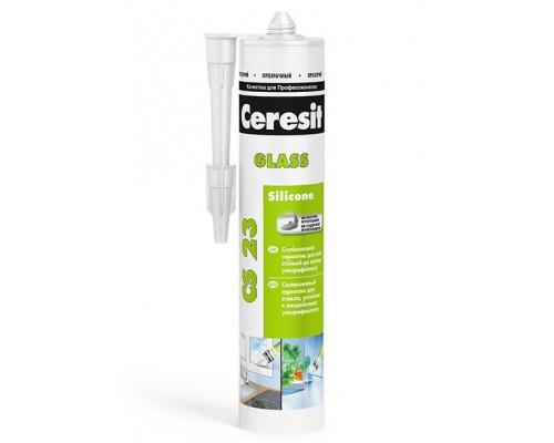Герметик для стекла бел CS 23 Церезит(Ceresit), 280 мл (1 уп/12 шт)