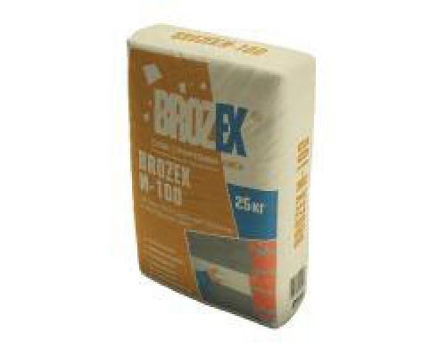 Штукатурка Брозэкс (Brozex) М 100 цементная, 25 кг (1 пал/48 шт)