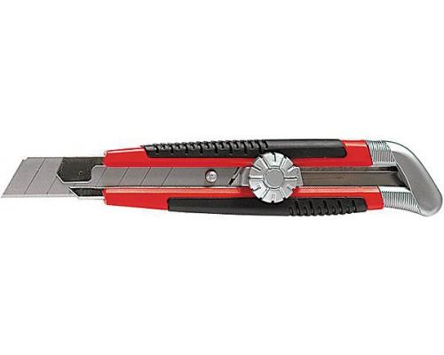 78914 Нож 18мм, выдвижное лезвие, металл.направ., винтовой фиксатор лезвия/MATRIX