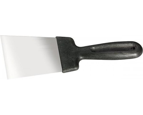 Шпательная лопатка из нерж.стали 60мм, пласт.ручка/СИБРТЕХ