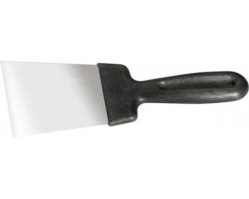Шпательная лопатка из нерж.стали 80мм, пласт.ручка/СИБРТЕХ
