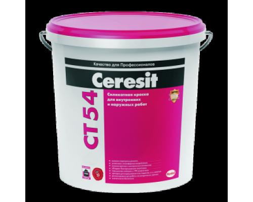Ceresit СТ 54 Краска силикатная для наружных и внутренних работ (транспарентная) 15 кг