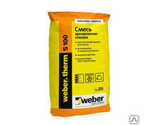 Вебер терм S 100 клеевая смесь зима (25 кг) (1пал/48 шт)